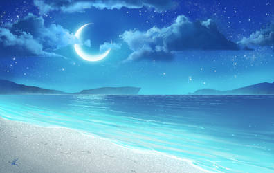 Crystal beach by AonikaArt