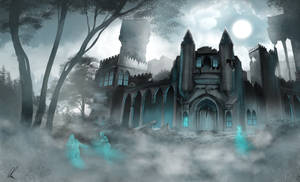 Ghostly manor by AonikaArt