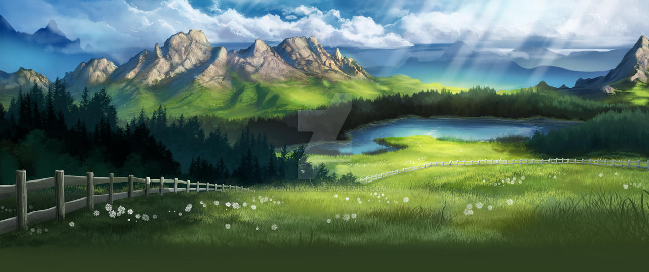 Mountain Background By Aonikaart On Deviantart