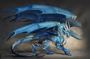 Cosmos the blue dragon by AonikaArt