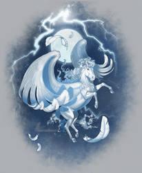 Pegasus - white by AonikaArt