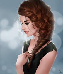 Aylee - portrtait by AonikaArt