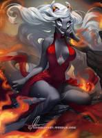 Floating in flames by AonikaArt