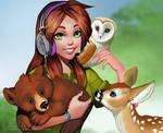 Emma and animals