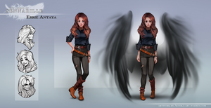 Errie - reference sheet by AonikaArt