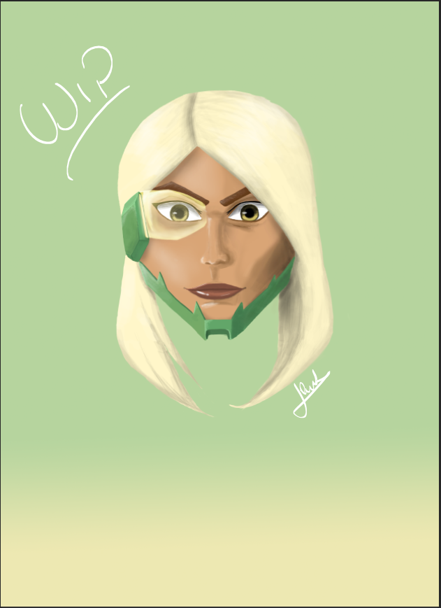Some WIP on my new OC :p by Aless98