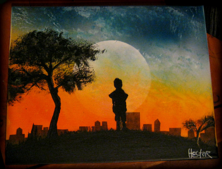 Spray Paint Art Lost Child By Hectorr94 On Deviantart