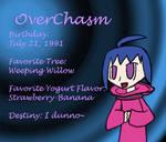 OverChasm's deviantID 9-5-09