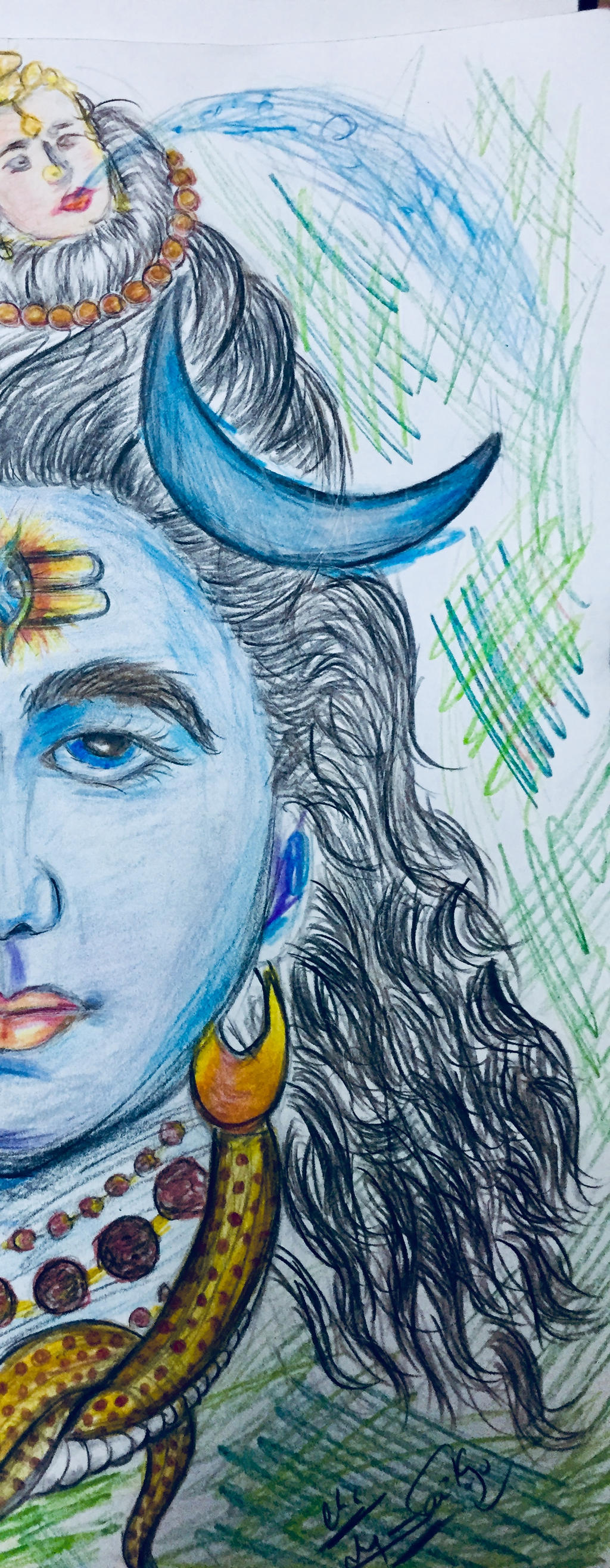LORD SHIVA DRAWING by VNSNAGASAI on DeviantArt