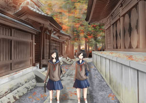 Make the back street of Kumano Taisha a returntrip
