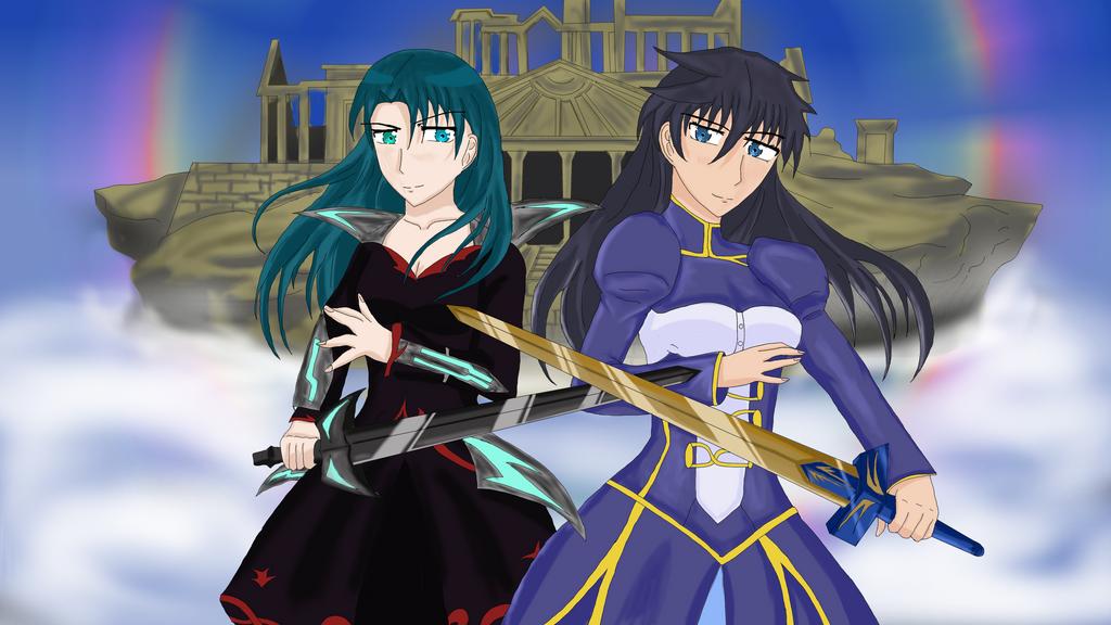 Dessins de Heart  - Page 7 Battle_for_the_spirit_world_by_hikari_miyako-dcd2rg1