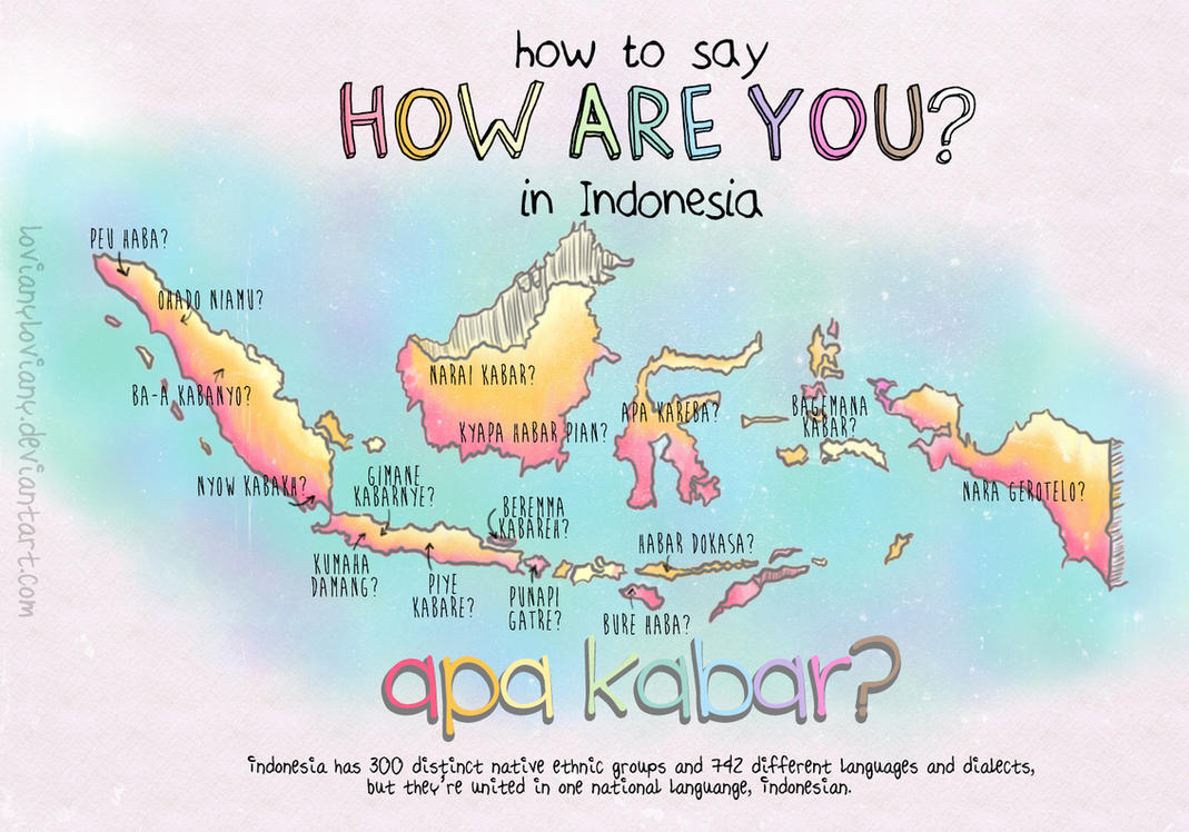 HOW ARE YOU in Indonesian by lovianyloviany