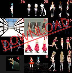 MMD: Animation folder motion DL by Antiqu-Bakery