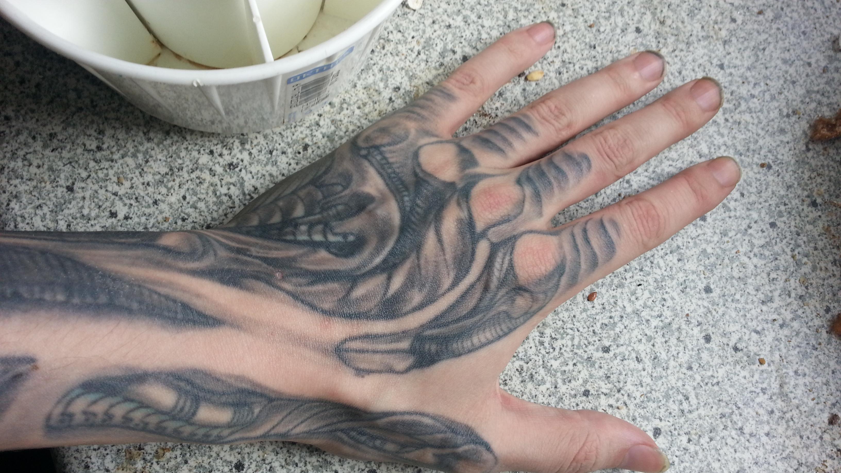 Hr giger tattoo designs -  My H R Giger Styled Tattoo By Darkki Nzti