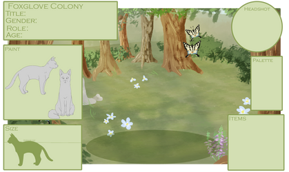 Foxglove Colony Application Form | Painted Flowers