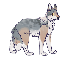 Emmaline - 400 point Flatsale Wolf Adopt by therealkwincie