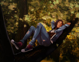 Commission_sleepy on tree