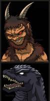 Azal And GMK Godzilla