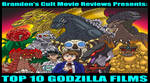 Brandon Tenold: Top 10 Godzilla Films
