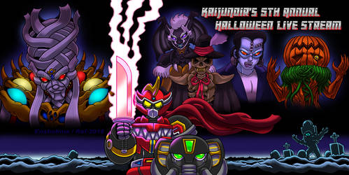 KaijuNoir's 5th Annual Halloween Live Stream by Enshohma
