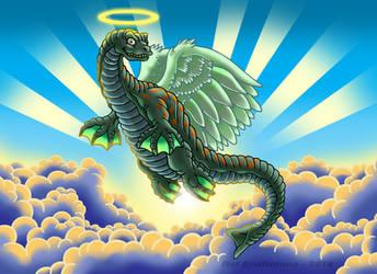 A Plesiosaur In Heaven - June 2019 by Enshohma
