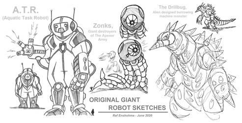 Giant Robot Sketches - KaiJune 2020