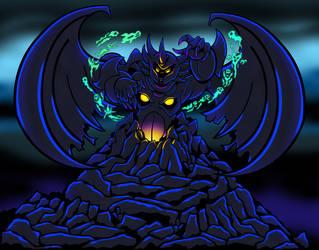 Draco Azul as Chernabog - Halloween 2020