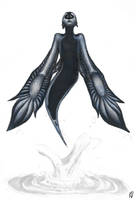 Blue Angel Sea Slug Mermaid-ish by kittycheetah14