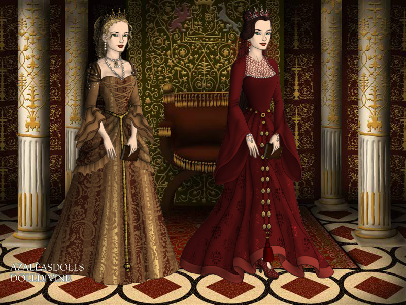 Princess Andreea Gabriela and her aunt Ana Maria by pispispis