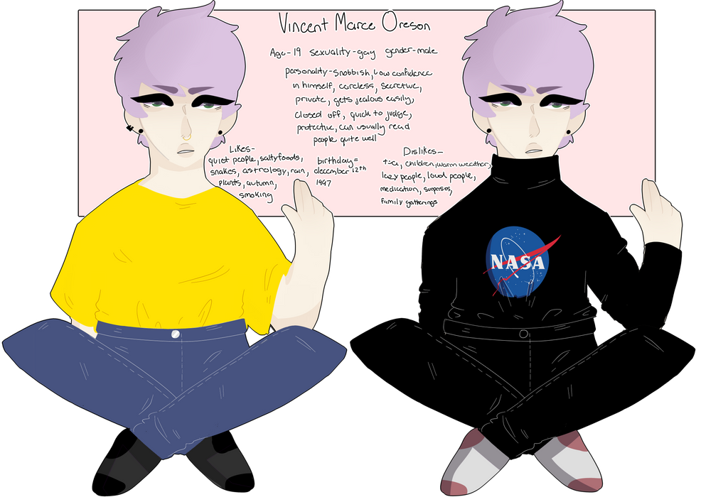 We've got Obsessions - Vince ref by sun-sheep