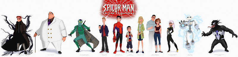 The Characters of Spider-Man of San Fransokyo