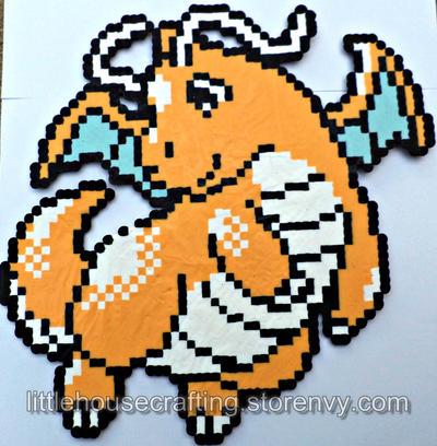 Huge Dragonite Perler by LittleHouseCrafting