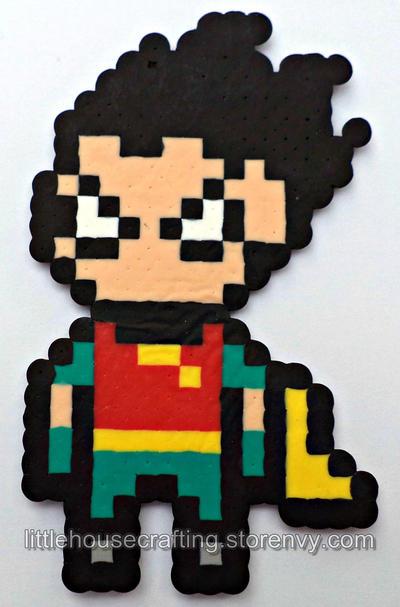 Teen Titans Robin Perler by LittleHouseCrafting