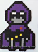 Teen Titans Raven Perler by LittleHouseCrafting