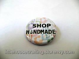 Shop Handmade 1.25 inch pinback button and magnet by LittleHouseCrafting