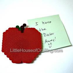 8Bit Apple Magnet by LittleHouseCrafting