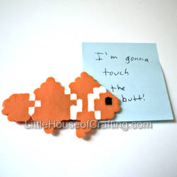 8Bit Clownfish Magnet by LittleHouseCrafting