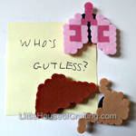 8Bit Human Organ Magnets by LittleHouseCrafting