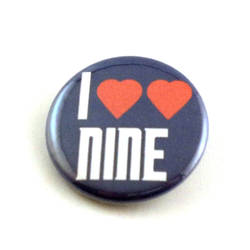 I Heart Heart Nine pinback button and magnet