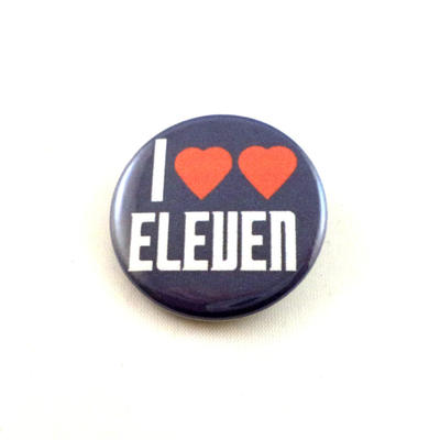 I Heart Heart Eleven pinback button and magnet by LittleHouseCrafting