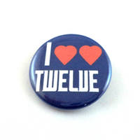 I Heart Heart Twelve pinback button and magnet
