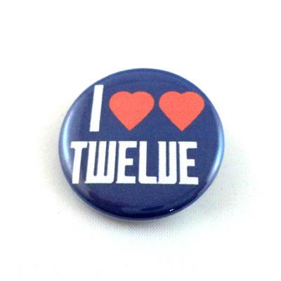 I Heart Heart Twelve pinback button and magnet by LittleHouseCrafting