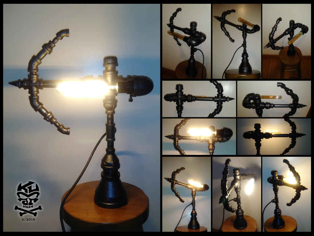 Black.Archer.Iron.Pipe.Lamp by RomeoKumar
