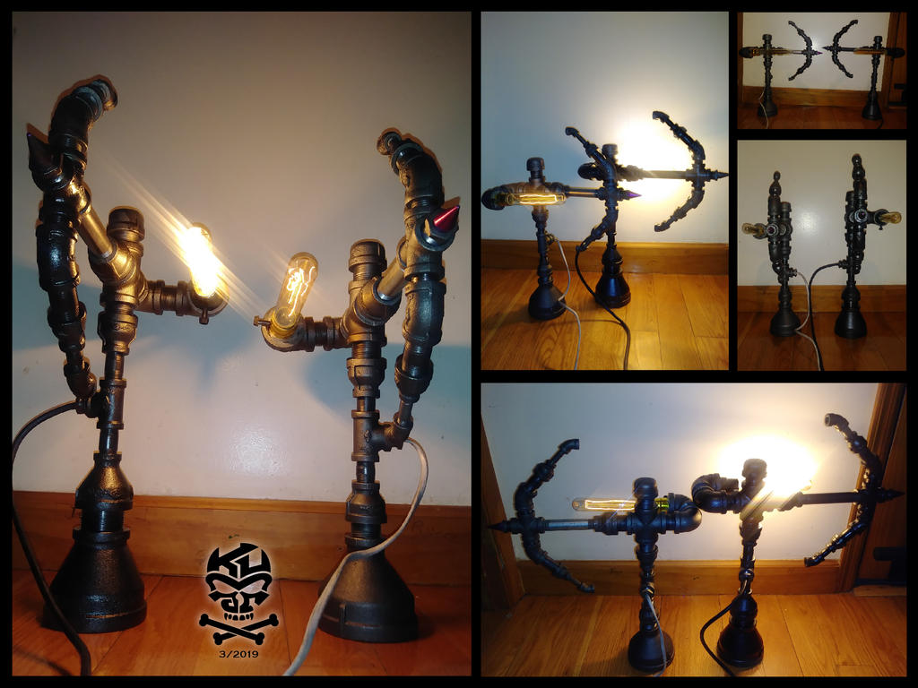 Two.Archer.Iron.Pipe.Lamps-01 by RomeoKumar