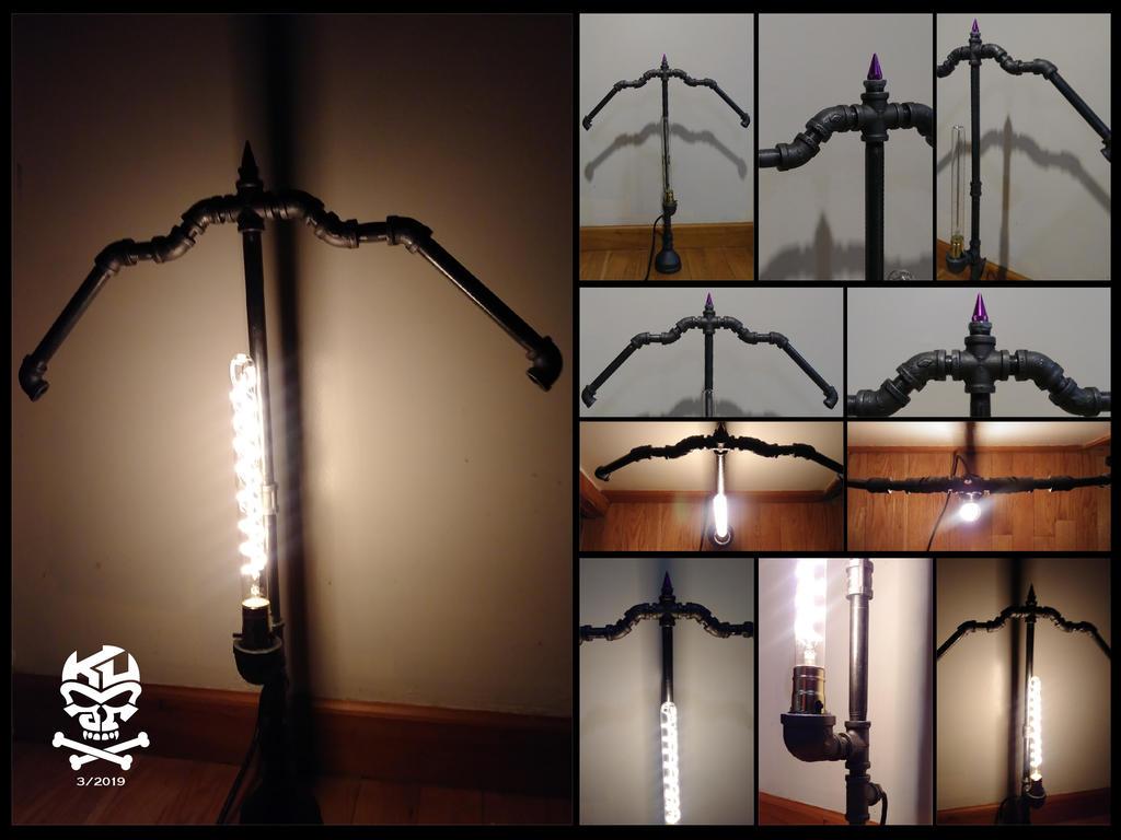 Bow.Arrow.Iron.Pipe.Lamp-01 by RomeoKumar
