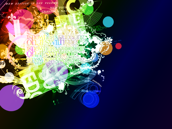 abstract wallpaper rainbow. rainbow abstract wallpaper by