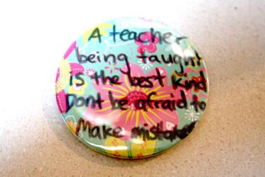 Button: Teaching by CreativEnergy