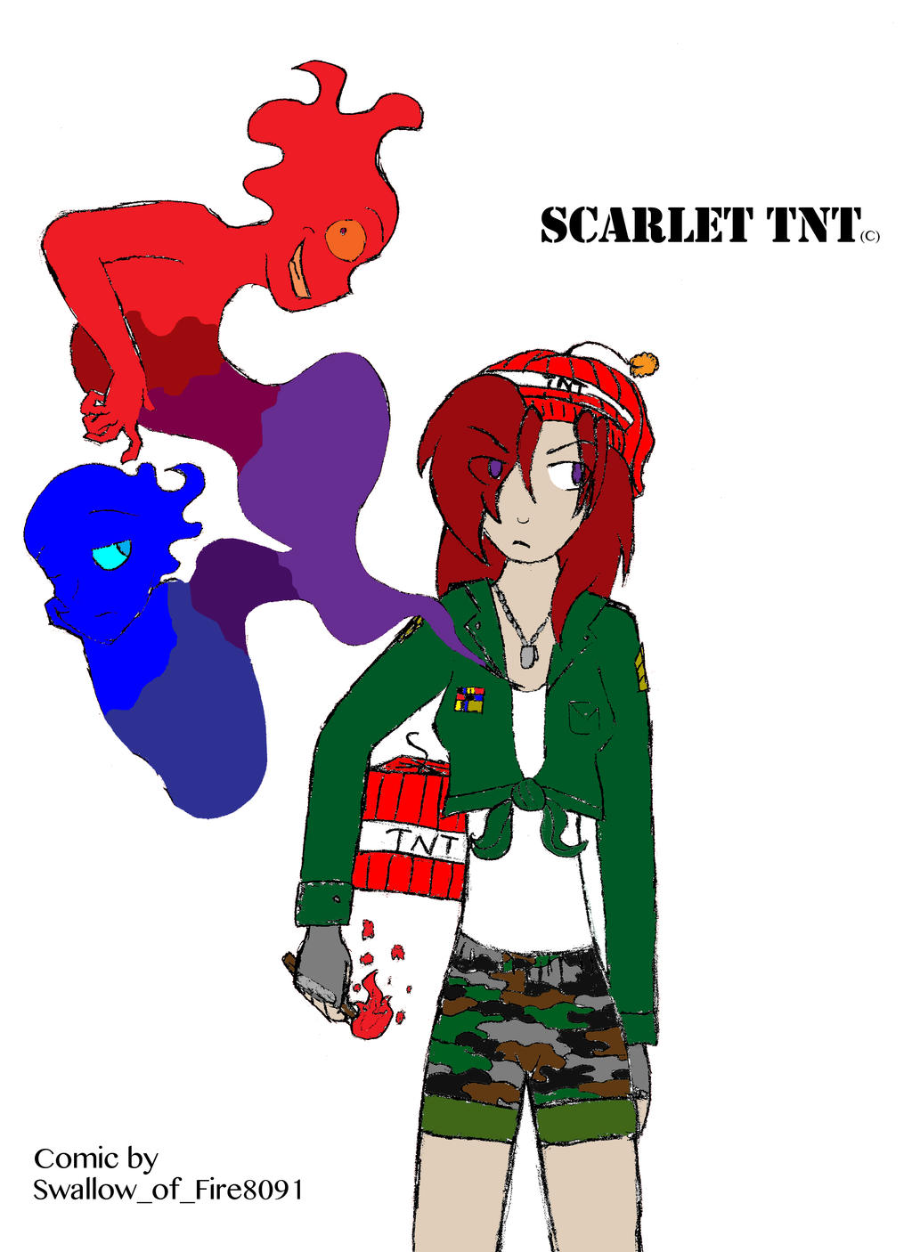 Scarlet TNT Comic Title (Old title of BTC Comic) by Swallow-of-Fire8091