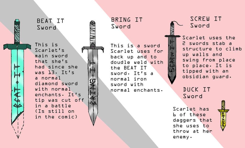 Scarlet's Swords REF by Swallow-of-Fire8091