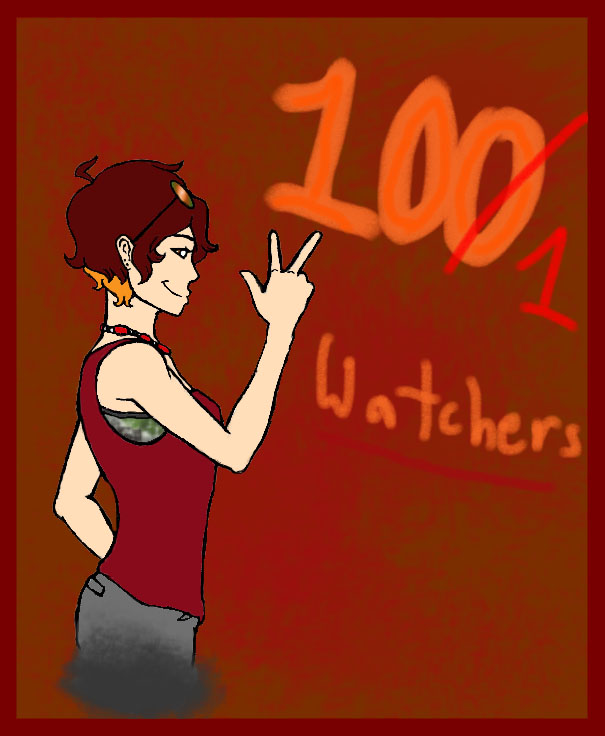 100 Watchers by Swallow-of-Fire8091